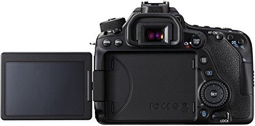 Canon EOS 80D DSLR Digitalkamera inkl. EF-S 18-55mm F3.5-5.6 IS STM Objektiv (24,2 Megapixel, 7,7 cm (3 Zoll) Display, DIGIC 6 Bildprozessor, NFC und WLAN, Full HD), schwarz
