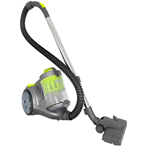 BLACK+DECKER Bagless Canister Multi-Cyclonic Vacuum Cleaner with Anti-Allergen HEPA Filter, Corded 1,200 Watt Motor with Adjustable Suction, Large Cap.(3L) & Multiple Attachments, Gray (BDXCAV217G)