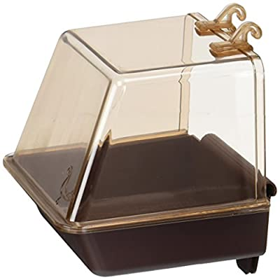 Penn Plax Clip-On Bird Bath ? Comes With Universal Clips to Attach to Most Birdcages, 5.5 x 5.75 x 3.75 Inches