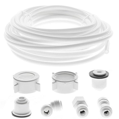 SPARES2GO Waterleiding Buis + Koelkast Connector Kit voor Siemens Amerikaanse Stijl Dubbele Koelkast/Koelkast (1/4