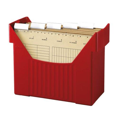 Herlitz 1611326 - Schedario Big Boy per 5 cartelle sospese, formato A4, colore rosso