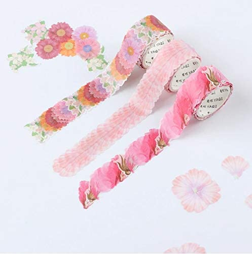 200PCS//Roll Floral Washi Tape Sticker Petals Adhesive Decals Scrapbooking DIY