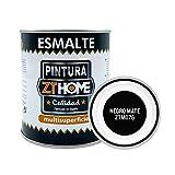 Pintura Negro Mate Interior / Exterior / Multisuperfie para azulejos baño cocina , madera, puertas, metal, radiadores, muebles, ceramica / Esmalte sintentico en 375 ml