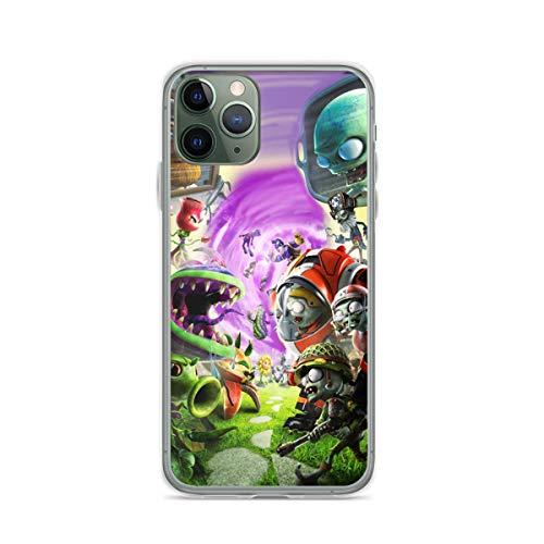 Yooan Plants Vs Zombies Compatible con iPhone 12 Pro MAX 12 Mini 11 Pro MAX X/XS MAX XR SE 2020/8/7 6/6s Plus Caso Shockproof Protection Carcasa de telefono