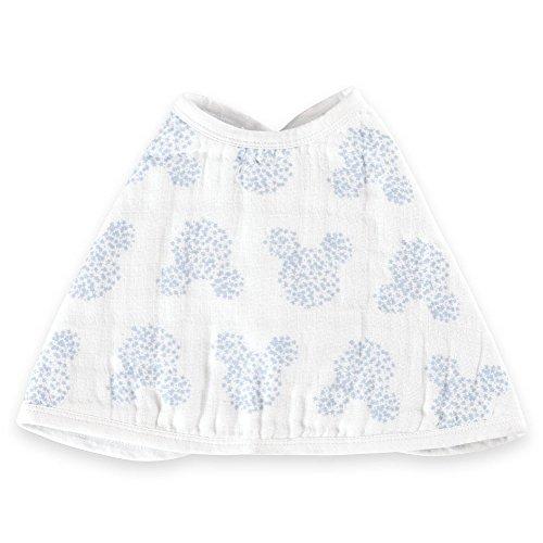 aden by aden + anais Disney Baby bavoir d'épaule burpy bib®, 100% mousseline de coton, 57cm X 28cm, graphic Mickey