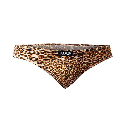 BaZhaHei Bragas de Hombre Calzoncillos de Ropa Interior Boxers Lencería Sexy para Hombre Bragas de Leopardo Ropa Interior cómoda y Transpirable Tanga de Leopardo 2XL