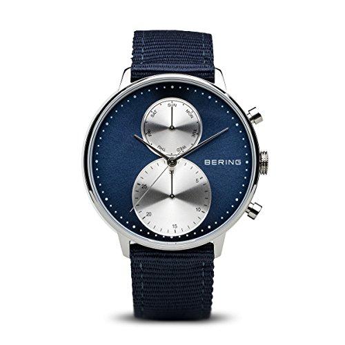 BERING Herren-Armbanduhr Analog Quarz Nylon 13242-507
