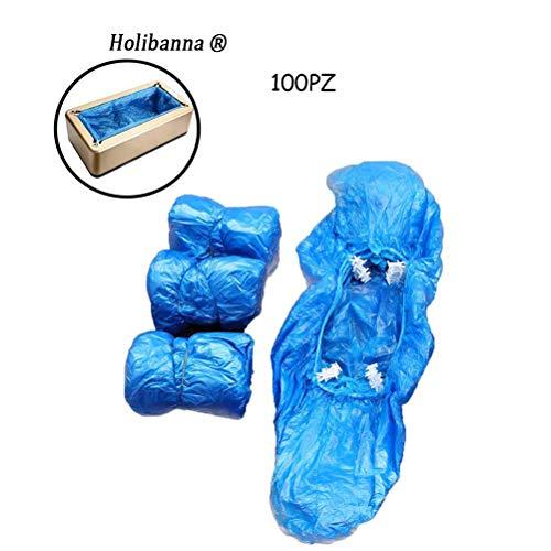 Holibanna 100PZ Automatico Copriscarpe Monouso in Plastica per Distributore Copriscarpe Automatico Shoes Cover Disposable per Laboratorio Home Office (Copriscarpe, T-type)