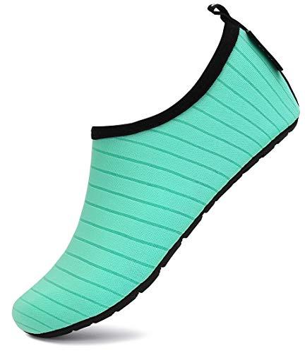 SAGUARO Escarpines Agua Niño Niña Escarpines Surf Hombre Mujer Antideslizante Secado Rápido Zapatos de Agua para Vela,Kayak,Buceo Estilo:4 Verdes Gr.36/37