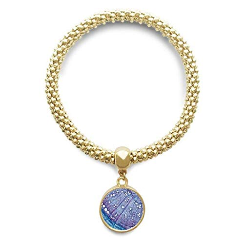 DIYthinker Damen Wissenschaft, Pflanze, Blau Zelle Muster Goldene Armband Laufende Anhänger Schmuck-Kette