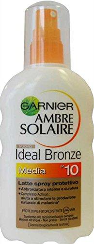 Lot de 6 sprays solaires Ambre Solaire Ideal Bronze Fp 10 200 ml