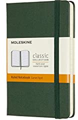 CLASSIC MOLESKINE NOTEBOOK: Moleskine classic notebooks are perfect notebooks for writing journals, a daily diary, or note taking in college classes or meetings. Moleskine notebooks are beloved by travelers & bullet journalists for their slim design....