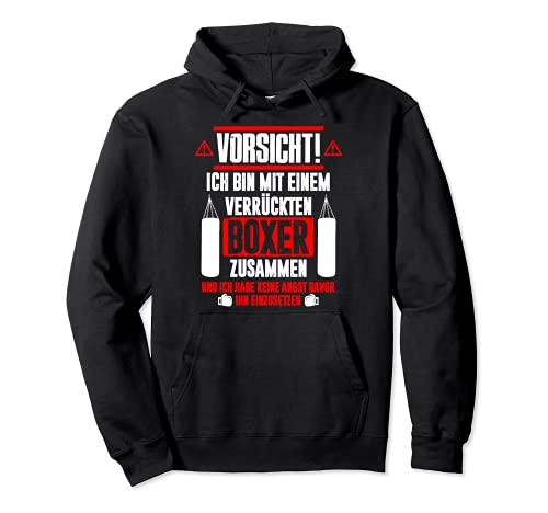 Bin mit Crazy Boxer - Funny Boxing Sports Boxing Pullover Hoodie