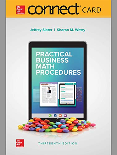 Connect Access Card for Practical Business Math Procedures