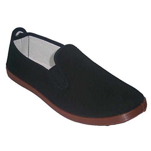Zapatillas para Taichi kunfú y Yoga Irabia en Negro Talla 46