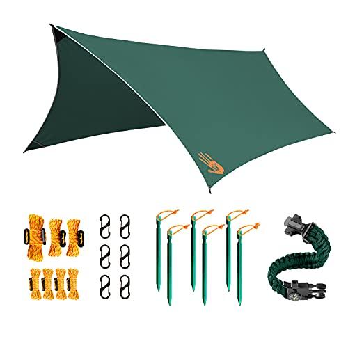Rain Fly EVOLUTION 12x10 Lightweight Camping Tarp; 100% Waterproof;...