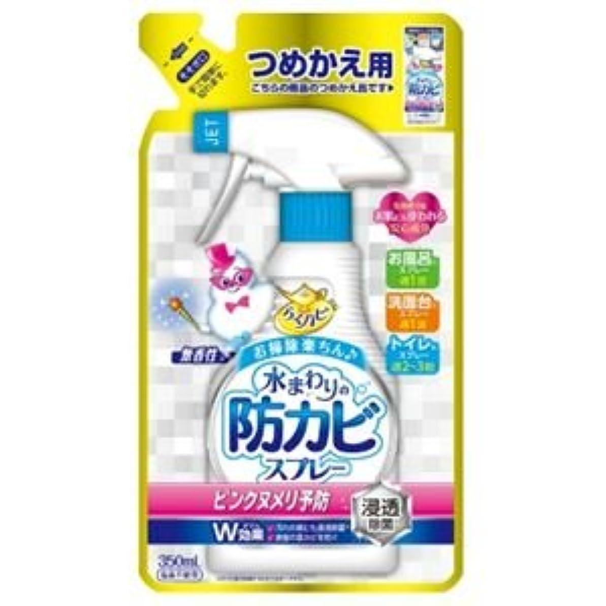 商標スライム期限(まとめ)アース製薬 らくハピ水まわりの防カビスプレー無香性かえ 【×5点セット】