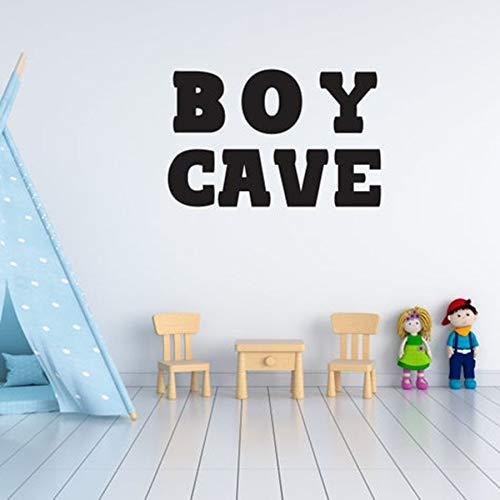 WERWN Boy Cave calcomanía de Vinilo Arte de la Pared decoración Pegatinas jardín de Infantes bebé recién Nacido niño niños Dormitorio decoración del hogar Palabra Mural
