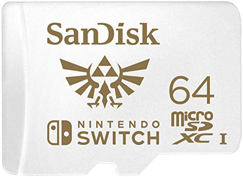 SanDisk MicroSDXC UHS-I 64 GB - Scheda per Nintendo Switch, Official Nintendo Licensed Product