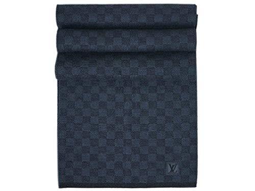 (ルイヴィトン) LOUIS VUITTON ルイヴィトン マフラー LV エシャルプ・プティ ダミエ ウール100% コバルト(ブルー/ネイビー) M70030 [並行輸入品]