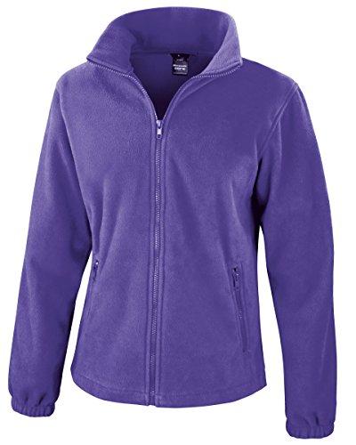 Result Damen Sweatjacke Fashion Fit Outdoor Fleece Jacke Violett Purple M