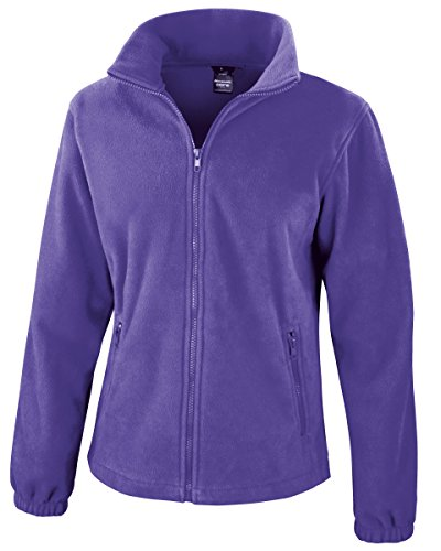 Result Damen Sweatjacke Fashion Fit Outdoor Fleece Jacke Violett Purple M
