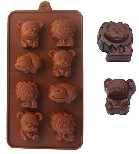 JasCherry Moldes de Silicona para Tartas, Chocolate, Caramelo, Jalea y Hielo - Serie Animal #2