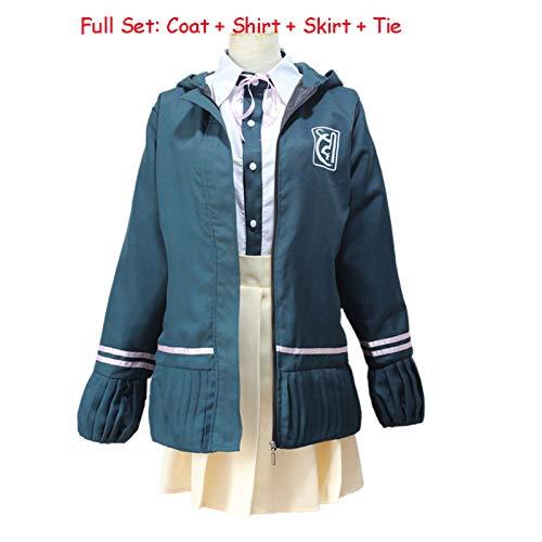 HAOKE Chiaki Nanami Cosplay Disfraz Danganronpa 2 Cosplay uniforme escolar japonés anime Cosplay Halloween disfraz para mujeres niñas (color: Chiaki Nanami, talla: L)