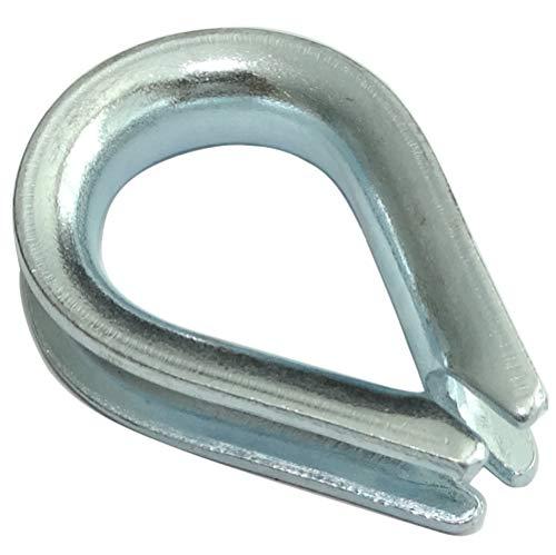 Aerzetix C43536 Kabelgoot voor touwen, diameter 4 mm, van verzinkt staal