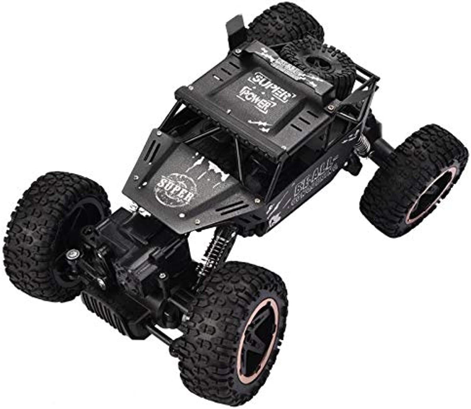 Generic High Speed 2.4GHz Frequency Climbing Remote Control Carro Alloy Vehicle FourWheel Drive OffRoad RC Electric Crawler Car 1 20 R Black