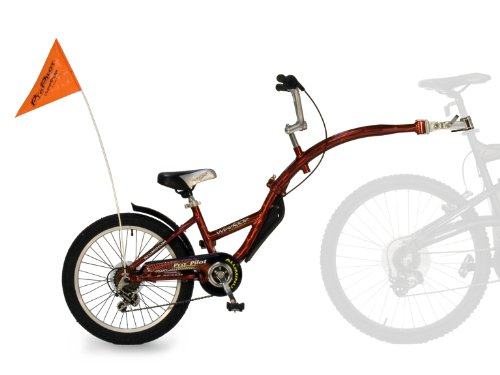 WeeRide Pro Pilot - Bicicleta Infantil para enganchar a Bicicleta de Adulto (Aluminio, 6 velocidades, Rueda de 20'/50 cm), Color Rojo