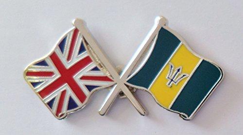 1000 drapeaux de la Barbade et drapeau du Royaume-Uni