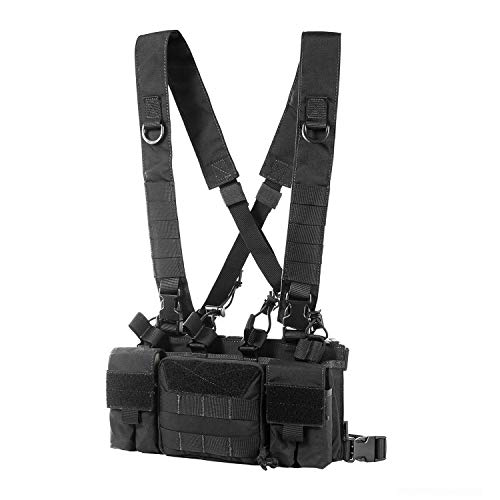OneTigris Tactical Chest Rig with 5.56/7.62 Rifle Mag Pouches Pistol Mag...