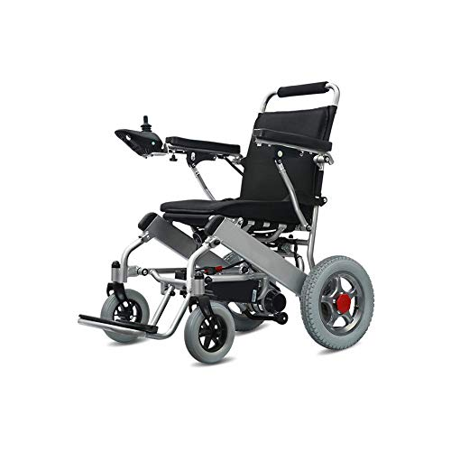 FTFTO Home Accessories Elderly Disabled Electric Powered Wheelchair Folding 360 deg Joystick Weight Capacity 100Kg Seat Width 45Cm Motorized Wheelchairs Manual and Electric Dual Use 20Ah18~25Km