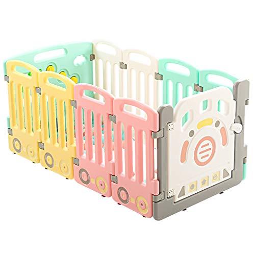 Fantastic Deal! Baby Fence Toddler Crawl Mat Carpet Playpen Tent Infant Plastic Castle Kids Activity...