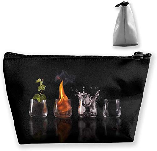 Makeup Bag Trapezoidal Storage Bag Chemistry Test Tube Fire Portable Cosmetic Bag Ladies Mobile Travel Bag
