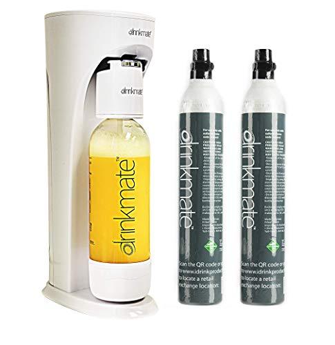 Drinkmate Sparkling Water Maker, Carbonates ANY Beverage, Bundle Includes Two 60L CO2 Cylinders, 1...