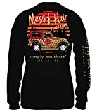 Long Sleeve Southern Lifestyle Tee 100% Cotton By Simply Southern See Size Chart