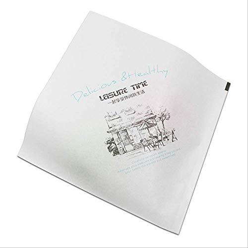 FHFF Kraft Papier Tas 100 Stks Multi Stijl Driehoekige Open Top Vetvrije Kraft Papier Voedsel Verpakking Tas voor Hamburger 15X15Cm Heerlijk Gezond