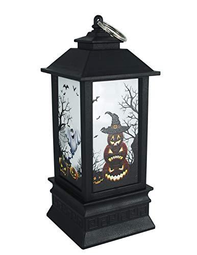 Kürbis-Laterne für Halloween mit Kerzen mit Blinkmodi, Geister, Kürbis-Lichter als Party-Dekorationen, batteriebetrieben