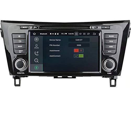 Autoradio ROADYAKO 8Inch pour Nissan Qashqai/X-Trail 2014 2015 2016 Android 7.1 Autoradio avec Navigation GPS Lien de Miroir 3G WiFi RDS FM AM Bluetooth AUX Audio Vidéo