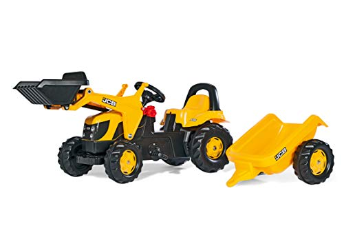 rolly toys | rollyKid JCB| Kids Pedal Tractor with Loader and Trailer | 023837
