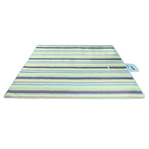 HYQWUB Alfombra de Picnic de Tela Oxford Alfombra de Tienda portátil de Viaje de Primavera Lavable al Aire Libre Alfombra de Piso de Humedad de Ocio Familiar Alfombra de Playa de césped Raya Azul 200