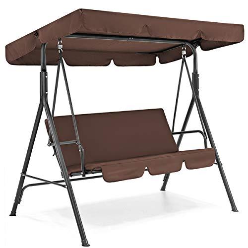 Juego de funda y toldo DaMohony impermeables para columpio. Toldo superior + funda de asiento para columpio de jardín o patio