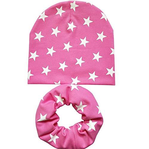 Nieuwe herfst winter kinderen katoenen mutsen set liefde ster hart print jongen pasgeborenen mutsen babymutsen kinderen hoed sjaal