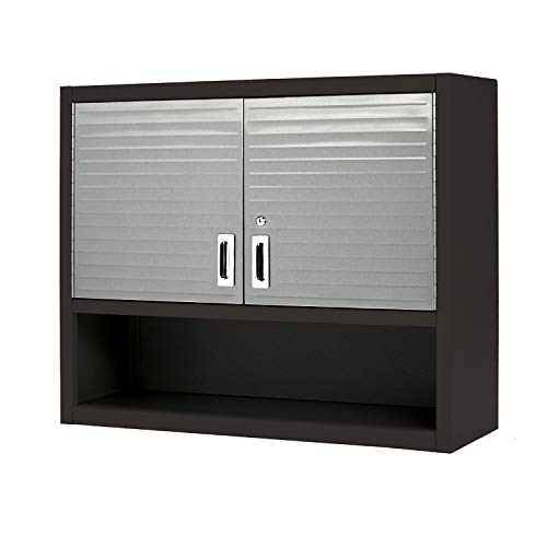 Seville Classics - Ultra-HD Wall Cabinet with Open Shelf, Graphite