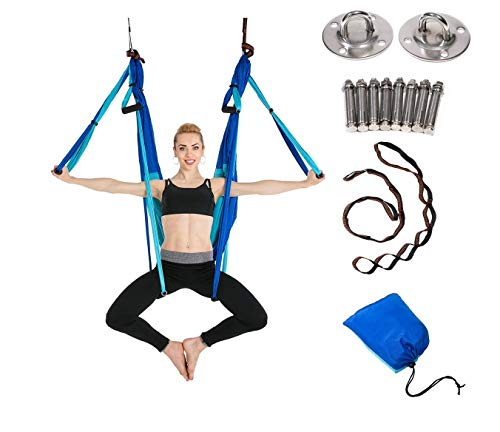 JIALFA Aerial Yoga gunga set – ultrastark antigravitation yoga hängmatta – flygtrapets kit –...