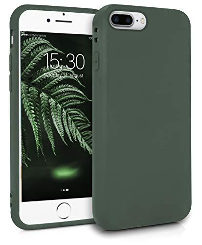 MyGadget Friendly Pocket Custodia TPU per Apple iPhone 7 Plus / 8 Plus - Case Morbida con Bordi Rinforzati – Cover Silicone Antiurto e AntiGraffio - Verde