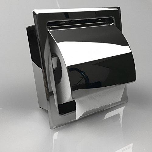 Einbau Toilettenpapierhalter Single, hochglänzend, Unterputz aus Edelstahl …