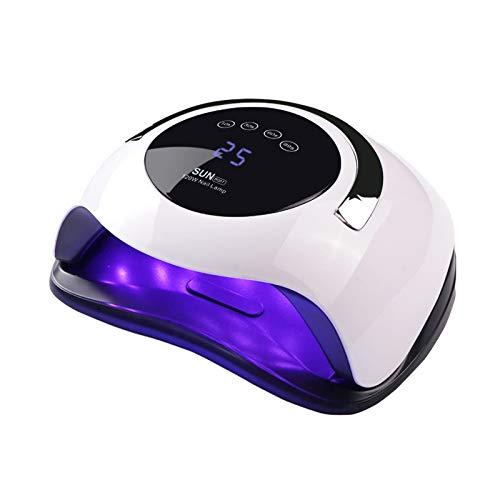 Lámpara de uñas UV LED de 120W, secador de uñas Yueliang Faster para esmalte de gel con 4 temporizadores Lámpara de gel profesional...